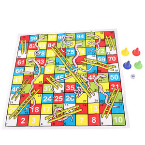 Snake Ladder Educational Kids Children Toys Family Interesting Board Game  C WH