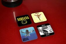 Nirvana Albums Awesome Wooden Coaster Set