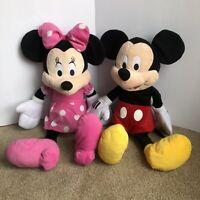 "Disney Mickey Mouse Plush Minnie Set Jumbo 24"" Lot Just Play"