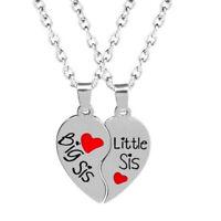 2Pcs/Set Best Sister Pendant Necklace Silver Borken Heart Women Necklace Jewe s/