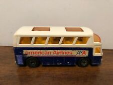 Matchbox Lesney #65 Aiport Coach American Airlines Bus Blue & White