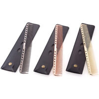 Professional Stainless Steel Hair Comb Thin Anti Static Hairdressing Tools PR