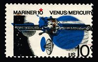 #1557 10c 1975 MNH Mariner 10 Major Color Shift Errors