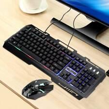Gaming Tastatur und Maus Set LED Beleuchtete Tastaturen für PC Laptop Computer