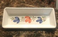 """Vintage Olive tray relish serving dish 9.5""""long ceramic-made In Italy-ships Free"""