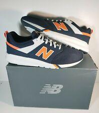 New Men's New Balance 009 Classic Casual running Shoes Navy Blue / Orange Sz 14