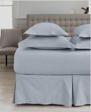 "Martha Stewart King Bedskirt 16"" Solid Light Blue Tailored dust ruffle Pale Sky"