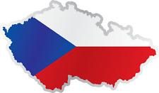 "Czech Republic Country Flag Map Car Bumper Window Mirror Sticker Decal 6""X3"""
