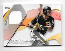 2017 Topps Series 1 Material Relic #MLM-GP Gregory Polanco Pirates