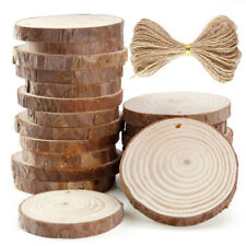 20 Pieces 6-7cm Unfinished Predrilled Wood Slices Round Log Discs With 33 Feet
