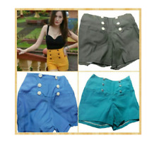 Button Highwaist Shorts - Black (XL)