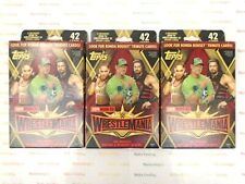 (3) Topps 2019 Road To Wrestle Mania WWE Sealed Hanger Box of 42 Trading Cards *