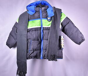 iXtreme Little Boys' Colorblock Winter Puffer Jacket - CHARCOAL