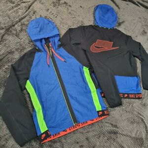 Nike Wild Run Jacket Blue Black Volt Medium RARE blackout logo