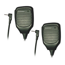 Motorola 53724 Remote Speaker with PTT Microphone w/Inline Clip - 2 Pack