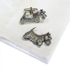Quality Cufflinks Handmade in England Silver Pewter Scottish Terrier Dog High