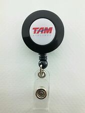 TAM Airlines YO YO ID Card Badge Holder Retractable Reel JJ Lanyard Airlines