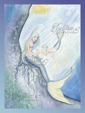 Little Sister Mermaid Print from Original Painting By Camille Grimshaw merboy