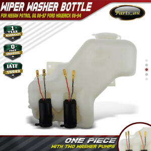 Wiper Washer Bottle with 2 Pumps for Nissan Patrol GQ Y60 Ford Maverick 88-97