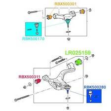 LAND ROVER FRONT UPPER LOWER SUSP. ARM BUSH & BALL JOINT SET LR3 LR4 MR0061 AM