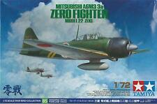 TAMIYA 1:72 AEREO MITSUBISHI A6M3/3a ZERO FIGHTER MODEL 22 (ZEKE)  ART 60785