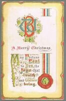 Vintage 1914 Merry Christmas Postcard No. 1011
