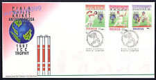 1997 Malaysia Sports Cricket ICC Trophy 3v Stamps FDC