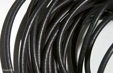 Lederband 6mm 1m schwarz Lederbänder Lederriemen Rundlederriemen echt Rindleder