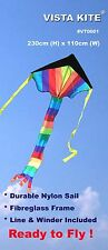 Vista Kite™ - Black Top Rainbow Kite