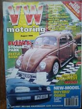 VW Motoring AUG 96 Volkswagen Golf Beetle Polo AUDI Ur-Quattro Caddy Cabriolet