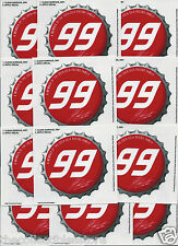 JEFF BURTON NASCAR SIGNATURE COCA COLA COKE BOTTLE CAP DECAL STICKER LOT OF 12