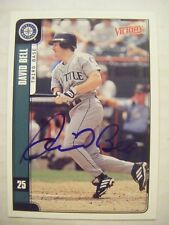 DAVID BELL signed MARINERS 2001 Victory baseball card AUTO CARDINALS PHILLIES UD