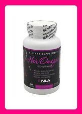 NLA for HER - HER OMEGAS 1000mg Omega 3 - 100 softgels for SKIN HAIR HEART JOINT