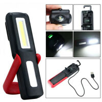18650 Rechargeable COB LED Work Light 180°Rotating Car Fix Emergency Torch Light