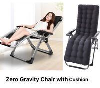 FOUR SEASONS (WITH CUSHION) Upgraded Zero Gravity Chair Recliner Support 330 LBS