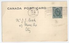 Christ Church, Toronto, ON, Men's Club - 1c George VI postal card 1945