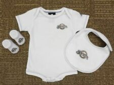 MLB Milwaukee Brewer Newborn White Creeper, Bib and Booties 6-9 Months