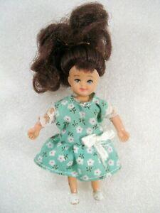 Town Square Miniatures Poseable Vinyl Dollhouse Girl Sister Figure Brunette 1:12