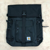 Carhartt Wip Philis Backpack Duck Canvas 11 oz Black Roll Top Bag Rucksack Phill