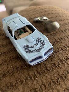 Untested TYCO HO SLOT CAR PONTIAC FIREBIRD BABY BLUE BIRD