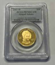 2007-W Abigail Adams First Spouse $10 Gold PCGS PR70DCAM
