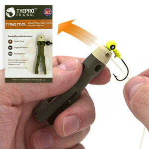 TYEPRO Fishing Line Knot-Tying Tool, Clinch, Palomar, Lure Tackle, Hooks, Cutter