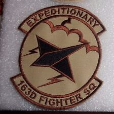 USAF FLIGHT SUIT PATCH,163RD EXPEDITIONARY FIGHTER SQN,IN ANG,DESERT,W/HOOK LOOP