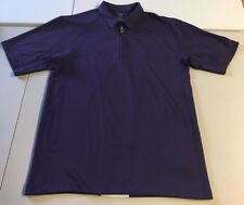 NIKE GOLF POLO SHIRT MOISTURE-WICKING FIT DRY PURPLE WHITE MEN'S SIZE LARGE