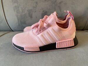 Adidas NMD_R1 Womens FX0825 True Pink Black Boost Running Training Size 7