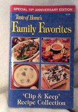 TASTE OF HOME'S FAMILY FAVORITES COOKBOOKS - 2002 - 10th Anniversary Edition
