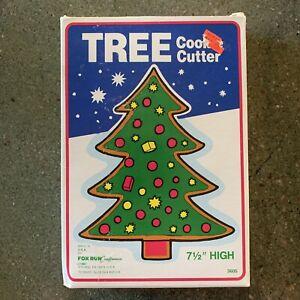 "Christmas Tree Cookie Cutter Fox Run USA 1987 7.5"" Vintage"