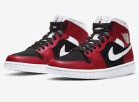 Air Jordan 1 Gym Red Black Size 9.5 M / 11 W BQ6472-601 Gym Red/Black/White New