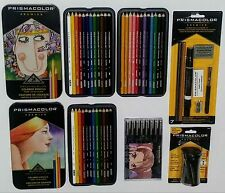 NICE LOT Prismacolor Premier COLORED PENCILS + MANGA MARKERS + MORE NIP!!