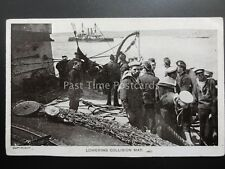 Royal Navy MARINES LOWERING COLLISION MAT c1906 by G.D.& D. Star Series